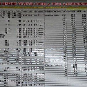 расписание автобусов Белореченск (Краснодарский край)